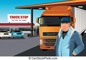 åka lastbil chauffören