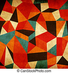 årgång, abstrakt, färgrik, bakgrund