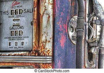 årgång, gas pumpa