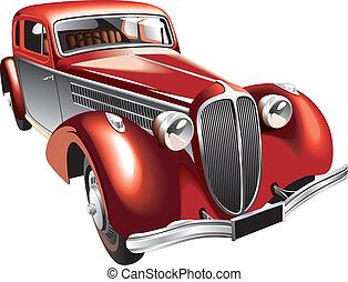 årgång, luxuös, bil