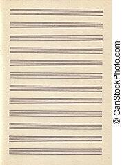 årgång, papper, musik