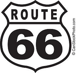årgång, väg, underteckna, retro, 66, motorväg