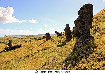 ö, påsk, stately, moai