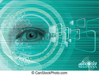 ögon, digital