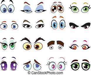 ögon, tecknad film