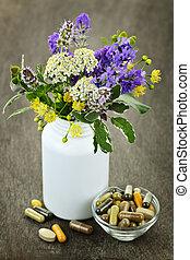 ört medicin, planterar