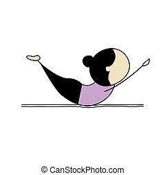 öva, kvinna, yoga