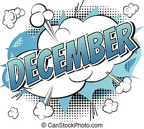 -, bok, komiker, stil, ord, december