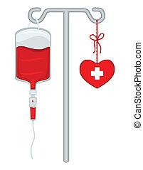 -, räddning, lives!, blod, skänka