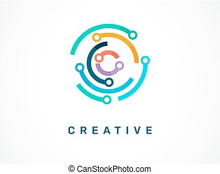 -, symbol, logo, tech, ikon, teknologi