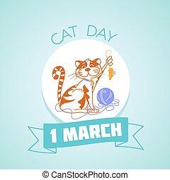1, mars, dag, katt