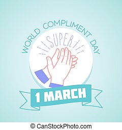 1, mars, dag, komplimang