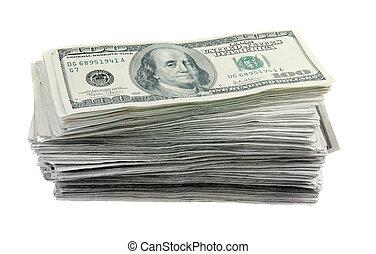 100, lagförslaget, dollar, stack