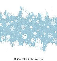1510, grunge, snöflinga, bakgrund, jul