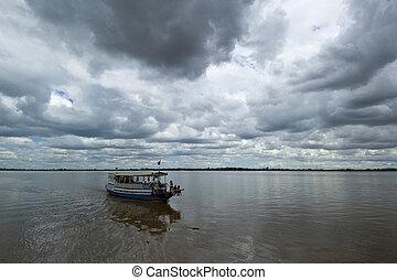3, resa, båt