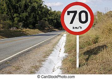 4283, bord, 70, regulatory, hastighet, väg