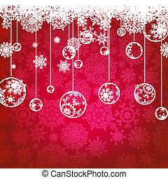 8, holiday., vinter, kort, eps, jul