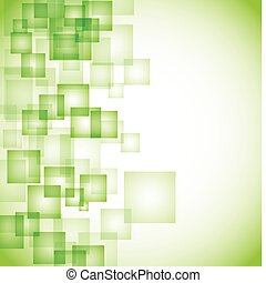 abstrakt, bakgrund, grön, fyrkant