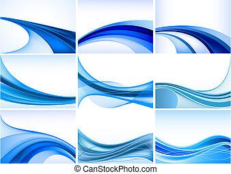 abstrakt, blåttbakgrund, sätta, vektor