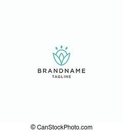 abstrakt, blomma, illustration, design, mall, logo, vektor, ikon