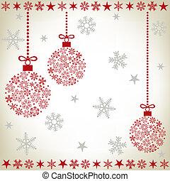 abstrakt, boll, jul, bakgrund