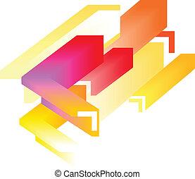 abstrakt, -, färgrik, bakgrund, 3