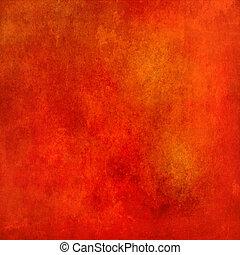 abstrakt, grunge, bakgrund, struktur, röd