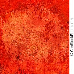 abstrakt, grunge, röd fond
