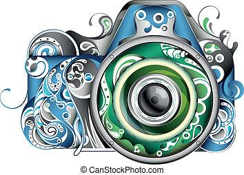 abstrakt, kamera