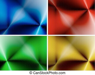 abstrakt, sätta, bakgrunder, flerfärgad