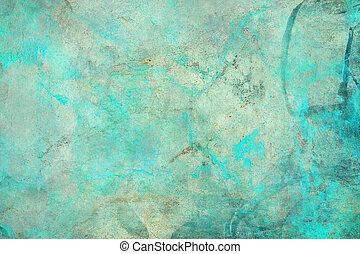 abstrakt, strukturerad, grunge, blå