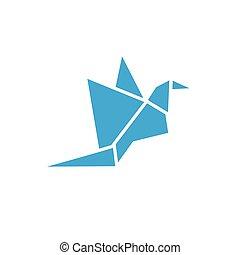 abstrakt, vektor, design, mall, logo, fågel, ikon