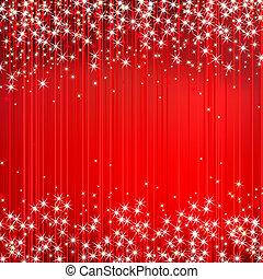 abstrakt, vektor, röd fond