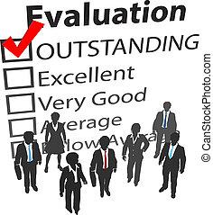 affär, bäst, mänsklig, lag, utvärdering, resurser