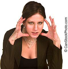 affärskvinna, ilsket