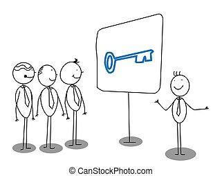 affärsman, presentation
