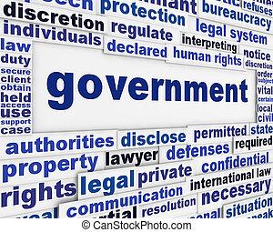 affisch, begrepp, regering