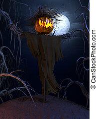 affisch, halloween