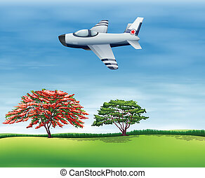 airplane, flygning, sky