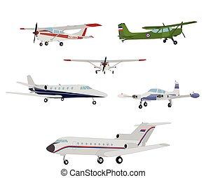 airplanes, illustration