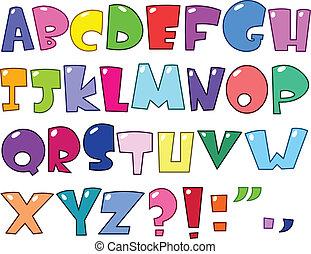 alfabet, tecknad film