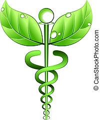 alternativ, vektor, symbol, medicin