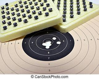 ammunition, måltavla