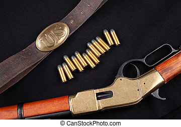 ammunition, väst, vild, gevär