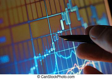 analysering, kartlägga, marknaden, block