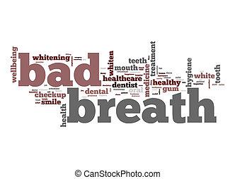 anda, dålig, ord, moln