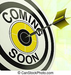 ankomst, produkt, måltavla, snart, kommande, färsk, visar