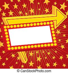 annonsering, stjärnor, underteckna
