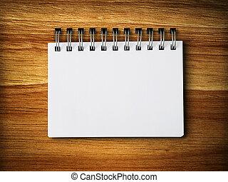 anteckna, gummi, ved, papper, tom, vit