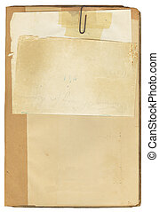 antikvitet, anteckning beställ, papper